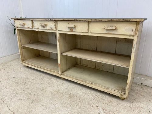 Industrial French Work Bench / Counter - w110